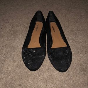 Torrid black flats with rhinestones